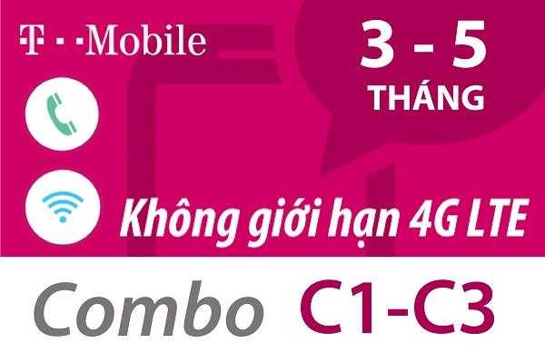 Sim Mỹ T-Mobile Combo dài hạn 3-5 tháng